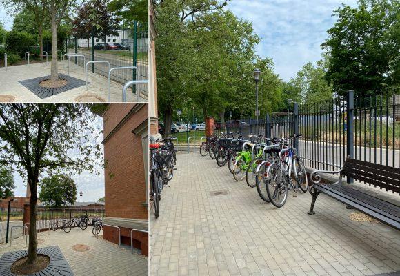 Zusätzliche Stellplätze für Fahrräder