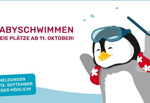 Freie Plätze beim Baby- und Kleinkindschwimmen ab 11.10.2021!