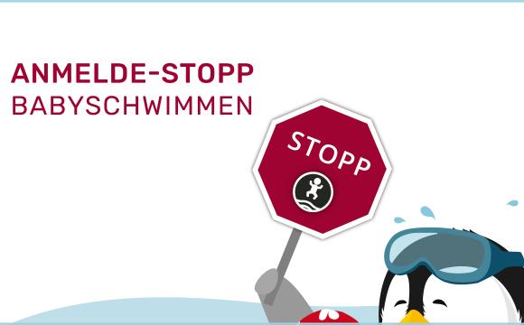 ANMELDE-STOPP FÜR BABYSCHWIMMEN